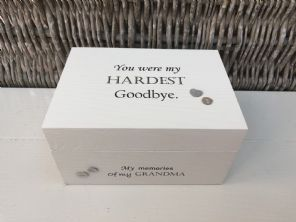 Personalised In Memory Of Box Loved One GRANDMA NANA any Name Bereavement Loss - 232738794897